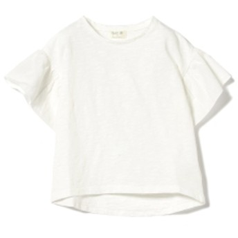 PLAY UP / 袖フリル 半袖 カットソー(3~10才) キッズ Tシャツ WHITE 10y