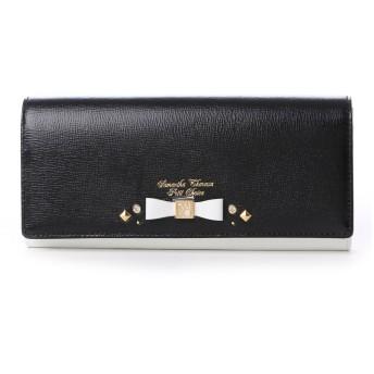 サマンサタバサプチチョイス ビジューリボンモチーフ バイカラーシリーズ 長財布(ブラック)