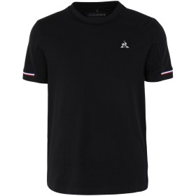 《セール開催中》LE COQ SPORTIF メンズ T シャツ ブラック M コットン 96% / ポリウレタン 4% TECH Tee SS N°1