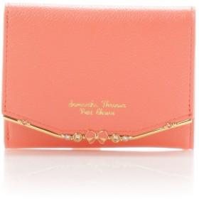 サマンサタバサプチチョイス リボンバー金具シリーズ折財布 オレンジ