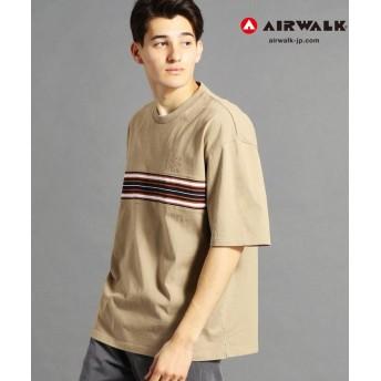 【50%OFF】 グランドパーク AIRWALKコラボラインTシャツ メンズ 18ベージュ 48(L) 【Grand PARK】 【セール開催中】