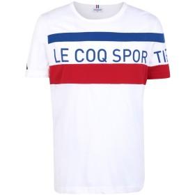 《送料無料》LE COQ SPORTIF メンズ T シャツ ホワイト S コットン 100% TRI Tee SS N°5