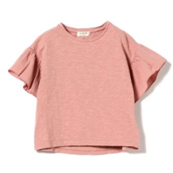 PLAY UP / 袖フリル 半袖 カットソー(3~10才) キッズ Tシャツ PINK 3y