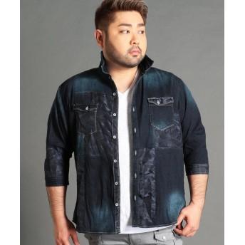 ハイダウェイニコル <大きいサイズ>パッチワークデニムシャツ メンズ 92その他3 54(4L) 【HIDEAWAYS NICOLE】