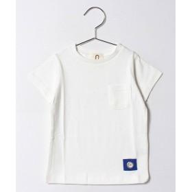 アンド ルームス ポケットTシャツ レディース オフホワイト 130 【&rooms.】