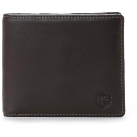 ロンフォード RONFORD 二つ折財布 (小銭入れなし) (ダークブラウン)