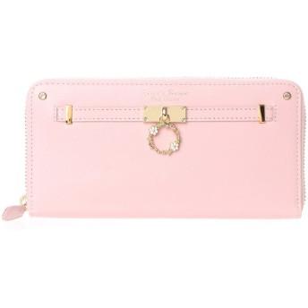 サマンサタバサプチチョイス フラワーリングモチーフ ラウンドジップ長財布(ピンク)