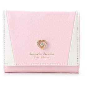 サマンサタバサプチチョイス ダンシングストーンシリーズ ハートバージョン ミニ財布 ピンク