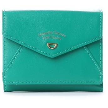 サマンサタバサプチチョイス ミニDプレートシリーズ ミニ財布(グリーン)