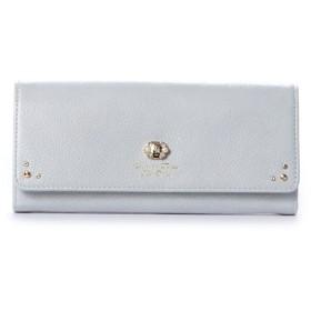 サマンサタバサプチチョイス ブローチパールシリーズ(長財布) ライトブルー