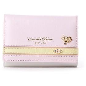 サマンサタバサプチチョイス バイカラーパステルシリーズ 中財布(ピンク)
