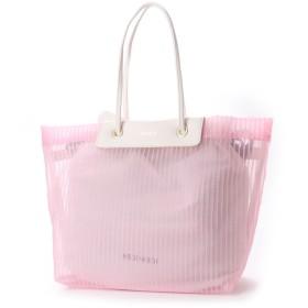 ミッシュマッシュ MISCH MASCH エアリー 巾着内袋付チュール素材トート (ピンク)