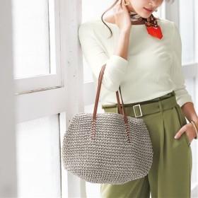 夏素材バッグ - セシール ■カラー:ライトグレー