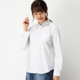 シャツ ブラウス レディース 袖ロールアップアップ可◎イージーケア吸汗速乾シャツ 「オフホワイト」