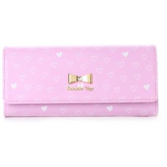 サマンサベガ ハートプリントかぶせ財布 ピンク