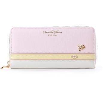サマンサタバサプチチョイス バイカラーパステルシリーズ ラウンドジップ財布(ピンク)