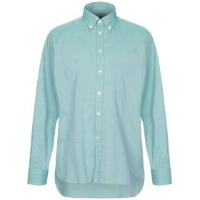 《送料無料》BRANCACCIO C. メンズ シャツ グリーン 42 コットン 100%