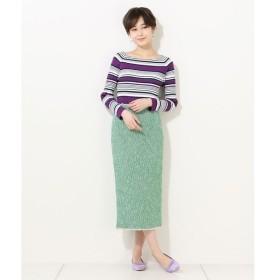 un dix cors / アンディコール ツイードナロースカート