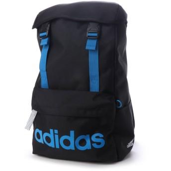 アディダス adidas リュック 20L かぶせ (ブラック×ブルー)