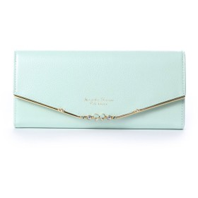 サマンサタバサプチチョイス リボンバー金具エナメルシリーズ(かぶせ長財布) ミント