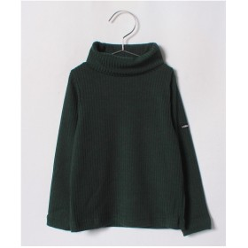b-ROOM テレコタートルネックTシャツ(ディープグリーン)【返品不可商品】