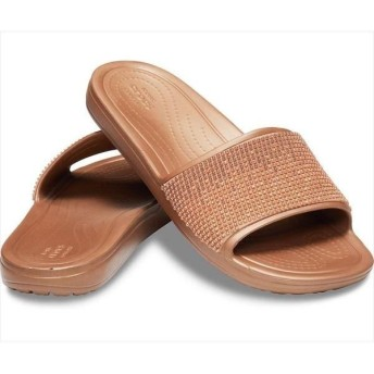 [crocs]クロックス レディース スローン メタリック カラーブロック スライド (205605)(7H3) メロンオンブル[取寄商品]