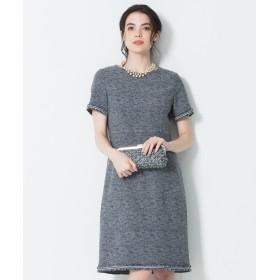 【オンワード】 23区 S(ニジュウサンク 小さいサイズ) 【マガジン掲載】Brilliant tweed dress ワンピース ネイビー 34 レディース 【送料無料】