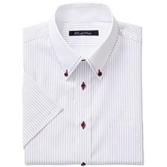 35%OFF【メンズ】 形態安定デザインYシャツ(半袖) ■カラー:パープル系 ■サイズ:5L,3L,4L