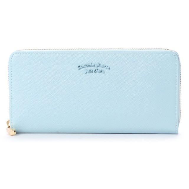 サマンサタバサプチチョイス バイカラーシンプルロゴシリーズ(ラウンドジップ長財布) ライトブルー