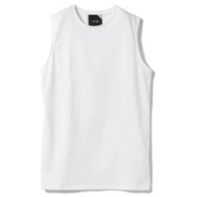 ATON / スビン ノースリーブプルオーバー レディース Tシャツ WHITE 02