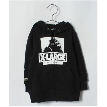 XLARGE KIDS OGゴリラジップパーカー(ブラック)【返品不可商品】