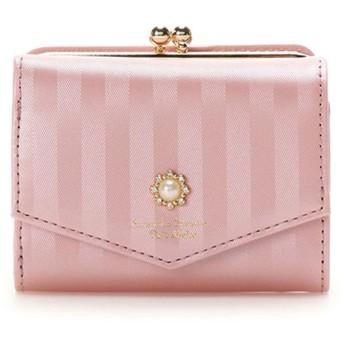 サマンサタバサプチチョイス パールストーンモチーフシリーズ がま口折財布 ベビーピンク