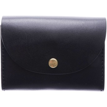 イタリコ ITALICO 日本製 栃木 レザー コンパクト 財布 ウォレット (01ブラック)