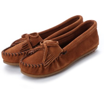 ミネトンカ Minnetonka KILTY Suede Moccasin Shoes (ブラウン)