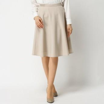 スカート レディース ロング 日本製★清涼感のあるシャンブレーサーキュラースカート 「ベージュ」