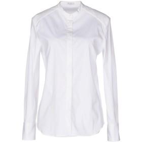 《期間限定 セール開催中》BRUNELLO CUCINELLI レディース シャツ ホワイト M コットン 72% / ナイロン 23% / ポリウレタン 5%
