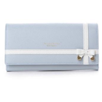 サマンサタバサプチチョイス リボンラッピングシリーズ 長財布(ライトブルー)