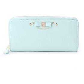 サマンサタバサプチチョイス ビジューモチーフ ラウンドジップ長財布(パステルカラーバージョン)(ライトブルー)