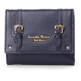 サマンサタバサプチチョイス フラワーベルトモチーフ 折財布(ネイビー)
