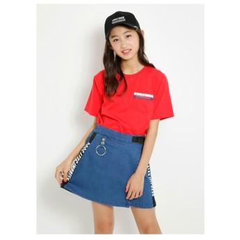 Lovetoxic 胸ポケロゴTシャツ(レッド)【返品不可商品】