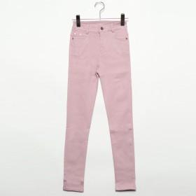 フューティアランド Futier Land ストレッチカラーパンツ (ピンク)