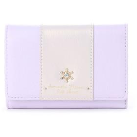 サマンサタバサプチチョイス 雪の結晶シリーズ 折財布【3年保証対象品】(ラベンダー)