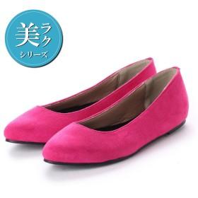 ジーラ GeeRA 【美ラク】快適フラットシューズ (ピンク)