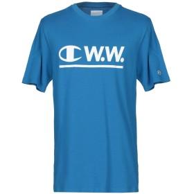 《9/20まで! 限定セール開催中》C.W.W. メンズ T シャツ アジュールブルー S コットン 100%
