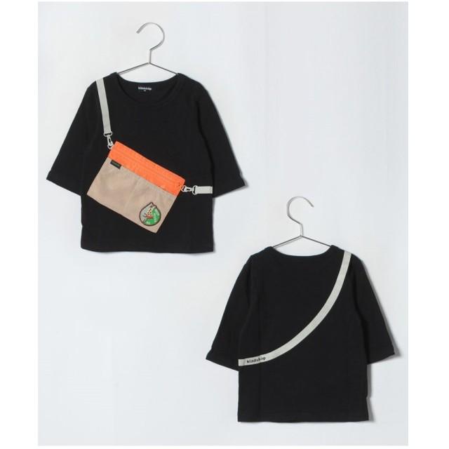 kladskap サコッシュ付7分Tシャツ(ブラック)【返品不可商品】
