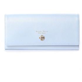 サマンサタバサプチチョイス NEWフラワーモチーフシリーズ(かぶせ長財布) ライトブルー