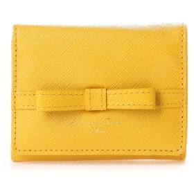 サマンサタバサデラックス シンプルリボン小物 三つ折り財布(ターメリック)