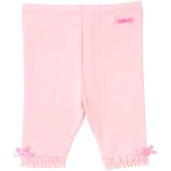 ミキハウス 裾フリルつきレギンス風6分丈パンツ ピンク