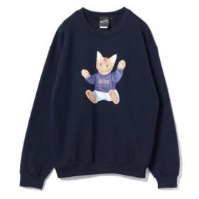 【SPECIAL PRICE】BEAMS T / NEKO Crewneck Sweatshirt メンズ スウェット NAVY M