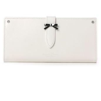 サマンサタバサプチチョイス シンプルリボン ベルトモチーフ 長財布(ホワイト)